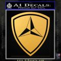 3rd Marine Division Decal Sticker Gold Vinyl 120x120