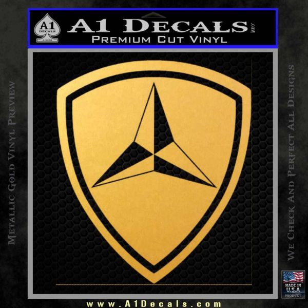 3rd Marine Division Decal Sticker Gold Vinyl
