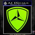 3rd Marine Division Decal Sticker Lime Green Vinyl 120x120