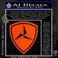3rd Marine Division Decal Sticker Orange Emblem 120x120