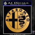 Alfa Romeo Emblem Decal Sticker Metallic Gold Vinyl 120x120