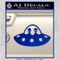 Alien Copilots Decal Sticker Blue Vinyl 120x120