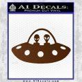 Alien Copilots Decal Sticker Brown Vinyl 120x120