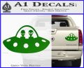 Alien Copilots Decal Sticker Green Vinyl 120x97