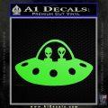 Alien Copilots Decal Sticker Lime Green Vinyl 120x120