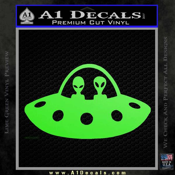 Alien Copilots Decal Sticker Lime Green Vinyl