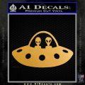 Alien Copilots Decal Sticker Metallic Gold Vinyl 120x120