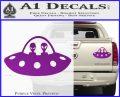 Alien Copilots Decal Sticker Purple Vinyl 120x97