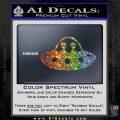 Alien Copilots Decal Sticker Sparkle Glitter Vinyl 120x120