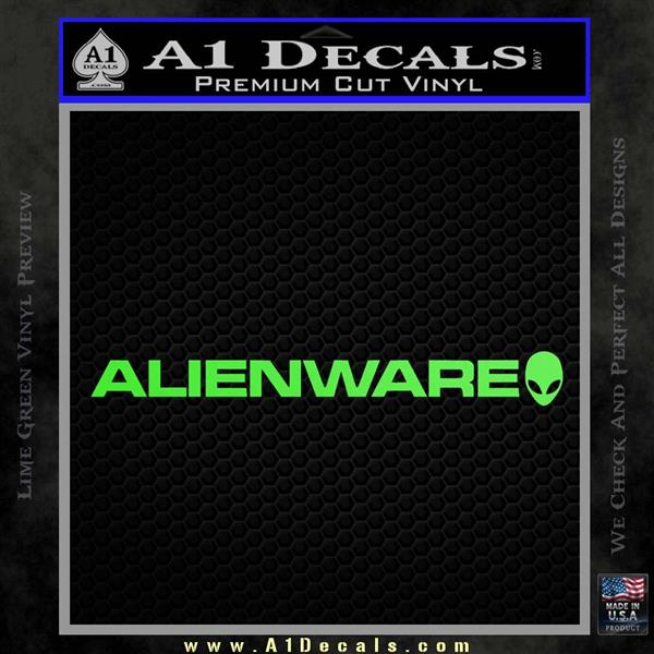 Alienware Logo Decal Sticker Lime Green Vinyl