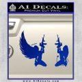 Angel Devil Girl Guns Decal Sticker D3 Blue Vinyl 120x120