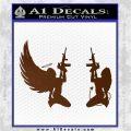 Angel Devil Girl Guns Decal Sticker D3 Brown Vinyl 120x120