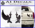 Angel Devil Girl Guns Decal Sticker D3 Carbon Fiber Black 120x97