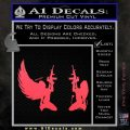 Angel Devil Girl Guns Decal Sticker D3 Pink Vinyl Emblem 120x120