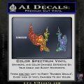 Angel Devil Girl Guns Decal Sticker D3 Sparkle Glitter Vinyl 120x120