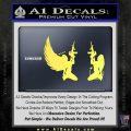 Angel Devil Girl Guns Decal Sticker D3 Yelllow Vinyl 120x120