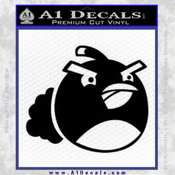 Angry Birds Bomb Decal Sticker Black Vinyl