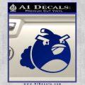Angry Birds Bomb Decal Sticker Blue Vinyl 120x120