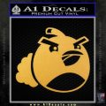 Angry Birds Bomb Decal Sticker Gold Vinyl 120x120