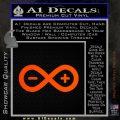 Arduino Electronics Infinity Decal Sticker Orange Emblem 120x120