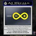 Arduino Electronics Infinity Decal Sticker Yellow Laptop 120x120