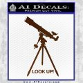 Astronomy Telescope Decal Sticker Brown Vinyl 120x120