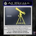 Astronomy Telescope Decal Sticker Yelllow Vinyl 120x120