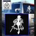 Asuna Sword Art Online Anime Decal Sticker White Emblem 120x120