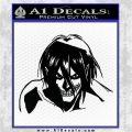 Attack on Titan Eren Yeager AST Decal Sticker Black Logo Emblem 120x120