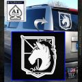 Attack on Titan Military Police D2 Decal Sticker White Emblem 120x120
