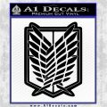 Attack on Titan SNK Anime Recon Corps Seal Decal Sticker Black Logo Emblem 120x120