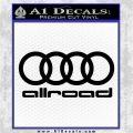 Audi Allroad Rings Decal Sticker Black Logo Emblem 120x120
