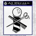 BARBER POLE SCISSORS WINDOW VINYL DECAL STICKER Black Logo Emblem 120x120