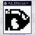 BULLET BILL 8BIT SUPER MARIO BROS KART VINYL DECAL STICKER Black Logo Emblem 120x120