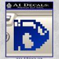 BULLET BILL 8BIT SUPER MARIO BROS KART VINYL DECAL STICKER Blue Vinyl 120x120