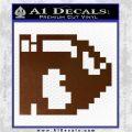 BULLET BILL 8BIT SUPER MARIO BROS KART VINYL DECAL STICKER Brown Vinyl 120x120