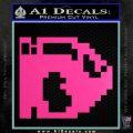 BULLET BILL 8BIT SUPER MARIO BROS KART VINYL DECAL STICKER Hot Pink Vinyl 120x120