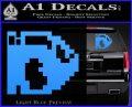 BULLET BILL 8BIT SUPER MARIO BROS KART VINYL DECAL STICKER Light Blue Vinyl 120x97