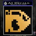 BULLET BILL 8BIT SUPER MARIO BROS KART VINYL DECAL STICKER Metallic Gold Vinyl 120x120