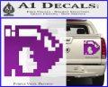 BULLET BILL 8BIT SUPER MARIO BROS KART VINYL DECAL STICKER Purple Vinyl 120x97