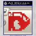 BULLET BILL 8BIT SUPER MARIO BROS KART VINYL DECAL STICKER Red Vinyl 120x120