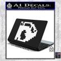 BULLET BILL 8BIT SUPER MARIO BROS KART VINYL DECAL STICKER White Vinyl Laptop 120x120