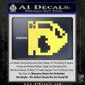 BULLET BILL 8BIT SUPER MARIO BROS KART VINYL DECAL STICKER Yelllow Vinyl 120x120