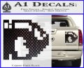 BULLET BILL 8BIT SUPER MARIO BROS KART VINYL Decal Sticker Carbon Fiber Black 120x97