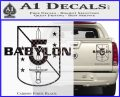 Babylon 5 Shield Title Logo Decal Siicker Carbon Fiber Black 120x97