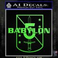 Babylon 5 Shield Title Logo Decal Siicker Lime Green Vinyl 120x120