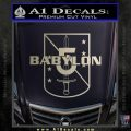 Babylon 5 Shield Title Logo Decal Siicker Silver Vinyl 120x120