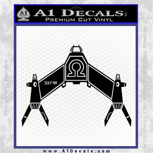 Babylon 5 Spaceship Omega Decal Siicker Black Logo Emblem