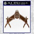 Babylon 5 Spaceship Omega Decal Siicker Brown Vinyl 120x120