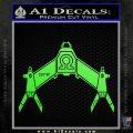 Babylon 5 Spaceship Omega Decal Siicker Lime Green Vinyl 120x120